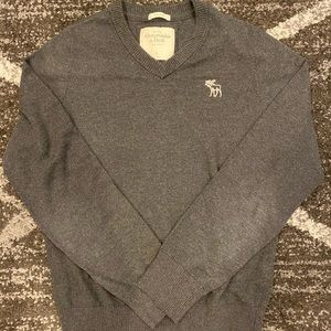 Men's Abercrombie & Fitch Muscle Fit Gray Sweater